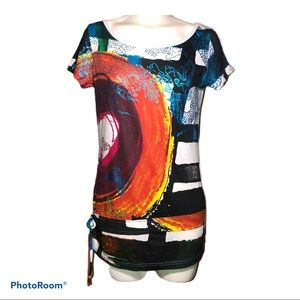 NWT Desigual tee with accent tie